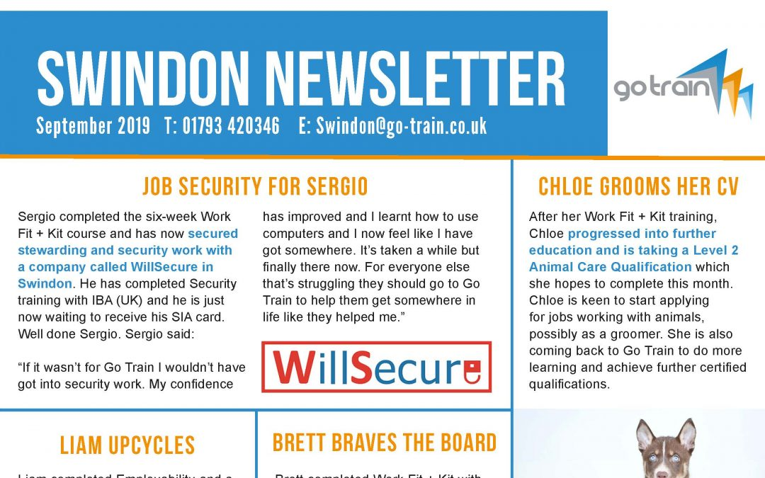 SWINDON NEWSLETTER SEPTEMBER 2019