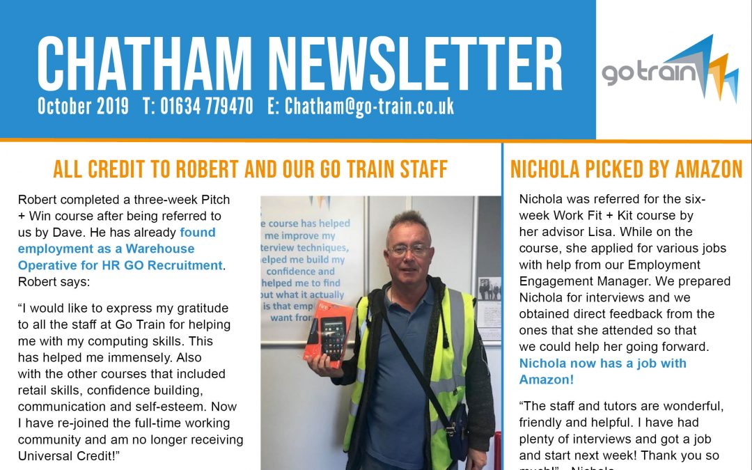 CHATHAM NEWSLETTER OCTOBER 2019