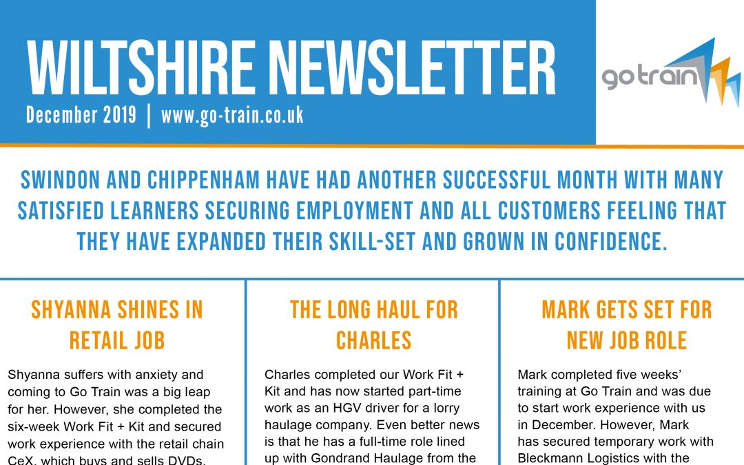 WILTSHIRE NEWSLETTER DECEMBER 2019